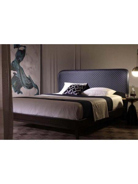 Кровать Рэдон MK-6200-DC двуспальная 180х200 см Тёмный кофе