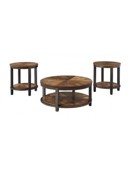 Набор журнальных столиков Roybeck T411-13 97х97х46 см Коричневый