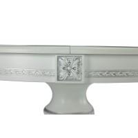 Стол Бонд-1 MK-7900-WS раскладной (цвет патины: серебро) 100х100(130)х77 см Белый