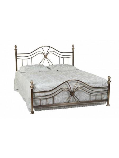 Кровать 9315 L MK-2203-AB двуспальная 160х200 см Античная медь