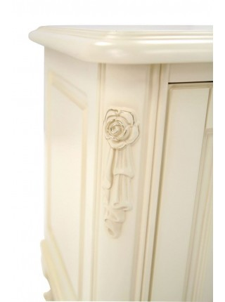 Тумба под ТВ Милано MK-1821-IV (цвет патины: золото) 160х51х68 см Слоновая кость