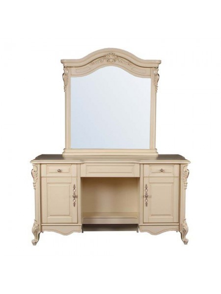 Туалетный столик Милано MK-1839-IV (цвет патины: золото) 149х50х190 см Слоновая кость