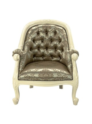 Кресло MK-CH01/1ST MK-2472-IV 78х65х91 см Слоновая кость