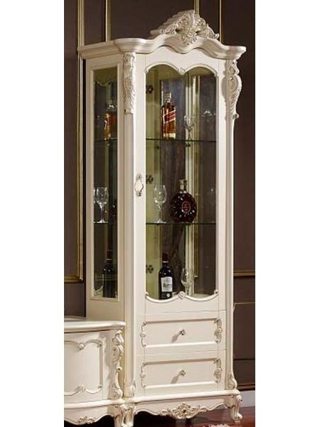 Витрина Глория MK-2719-WG 1-дверная правая 88х46х227 см Молочный