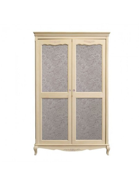 Шкаф Florence MK-5089-AW 2-дверный 130х60х214 см Молочный