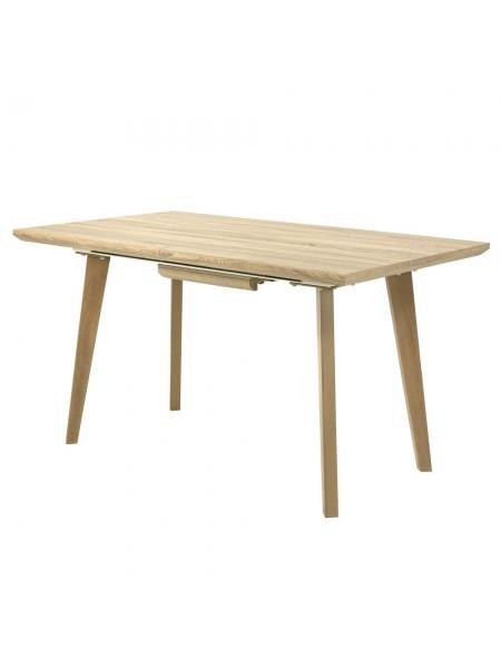 Стол MK-5810-LW обеденный раскладной 80х140(180)х76 см Светлое дерево