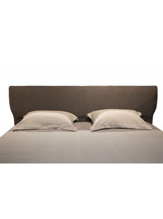 Кровать MK-6611-DGF двуспальная 184х201 см Серый/Черный