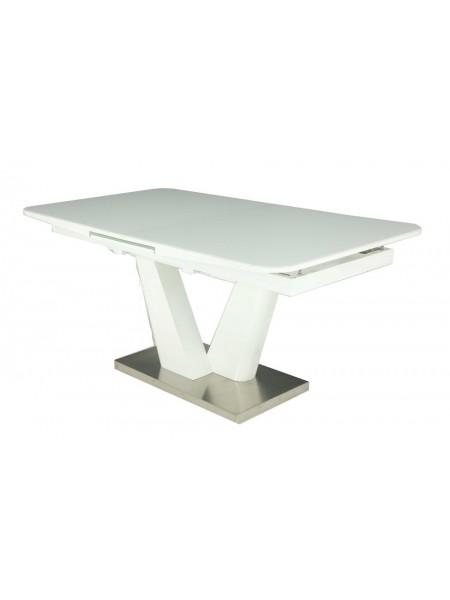 Стол Даймонд MK-7303-WT раскладной 90х160(200)х75 см Белый