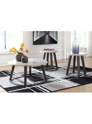 Набор журнальных столиков Luvoni T414-13 97х97х48 см Черный/Белый