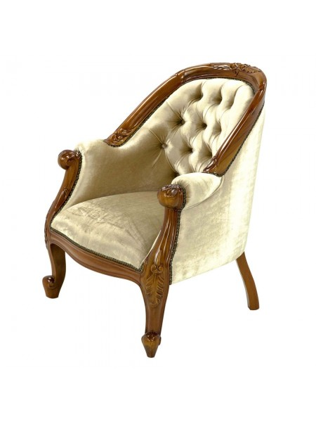 Кресло MK-CH01 MK-2472-NM 78х65х91 см Итальянский орех