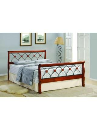 Кровать Lika MK-5229-RO односпальная 90х200 см Темная вишня