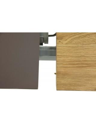 Стол MK-5811-CP обеденный раскладной 80х180(180)х76 см Серый