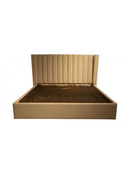Кровать MK-6619-CRF двуспальная с подъемным механизмом 182х203 см Кремовый
