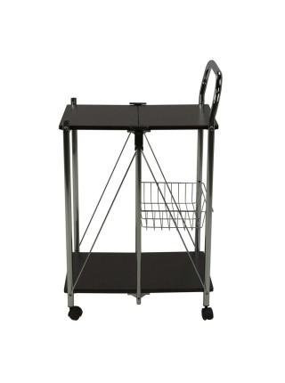 Столик сервировочный MK-2395 складной с корзинкой 44х58х90 см Венге