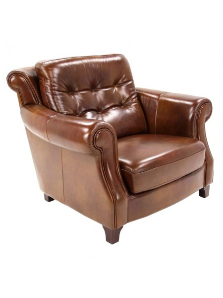 Кресло MK-6502-CGL 114х110х96 см Коньячный