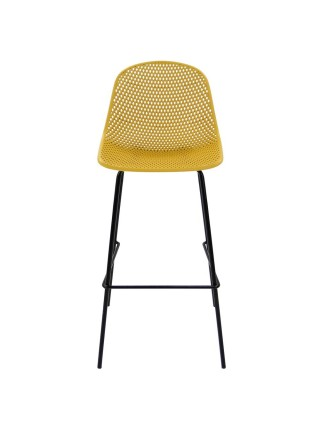 Стул барный MK-6704-BB 50х46х108 см Желтый/Черный