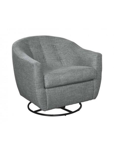 Кресло Mandon 2030442 акцентное вращающееся 84х84х76 см Серый