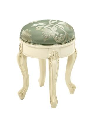 Банкетка Милано MK-1861-IV (цвет патины: золото) 38х38х52 см Слоновая кость