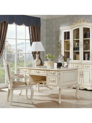 Письменный стол Милано MK-1862-IV (цвет патины: золото) 160х80х81 см Слоновая кость