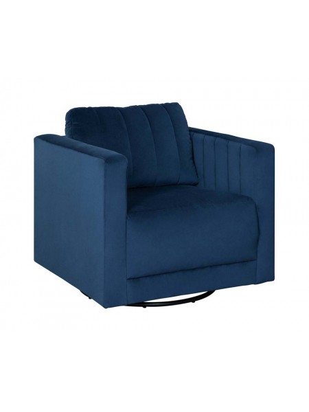 Кресло Enderlin 1780142 вращающееся 84х84х86 см Синий