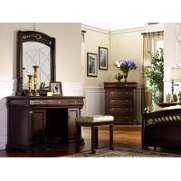 "Туалетный столик с зеркалом 9901 ""Нотти""+банкетка Ткань 9901 (122х50х182 см)"