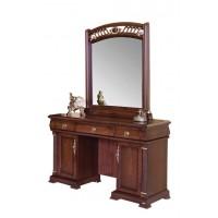 """9901. Туалетный столик с зеркалом+ банкетка ЭКОКОЖА """"Нотти"""" (122х50х182 см)"""