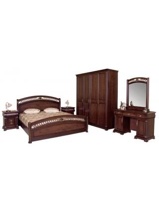 Кровать Нотти 9901 MK-1710-DN двуспальная 160х200 см Темный орех
