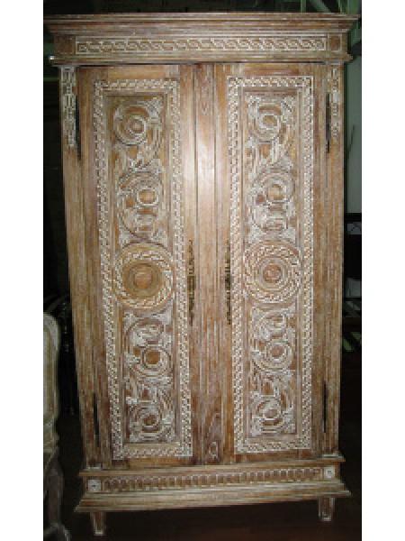Шкаф Catalan MK-3299-CE 2-дверный 110х60х195 см Античный бежевый