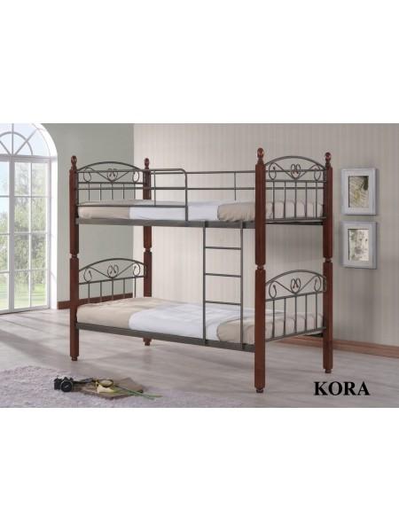 Двухъярусная кровать Кора - DD (Kora) Темный орех
