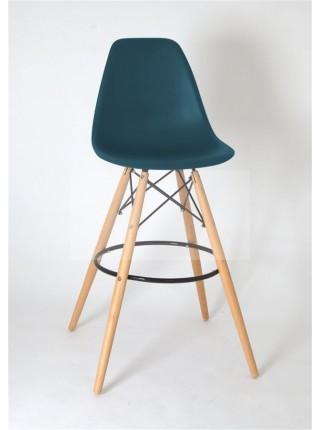 Полубарный стул 638-G/Н65 Eames бирюза