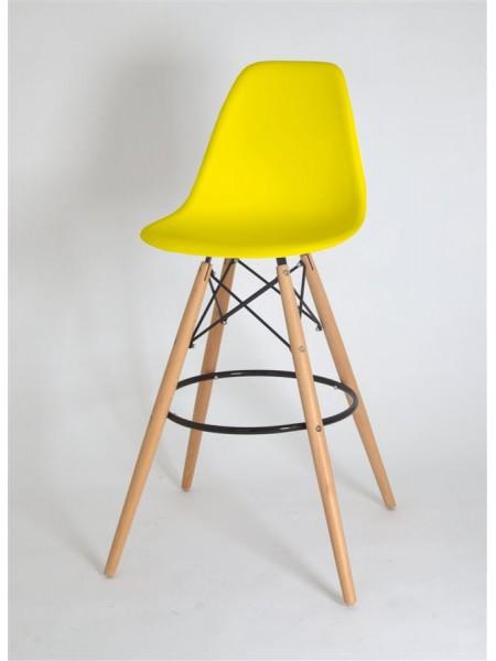 Полубарный стул 638-G/Н65 Eames жёлтый