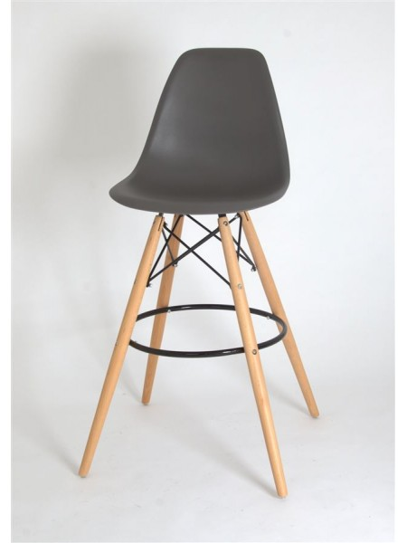 Полубарный стул 638-G/Н65 Eames серый