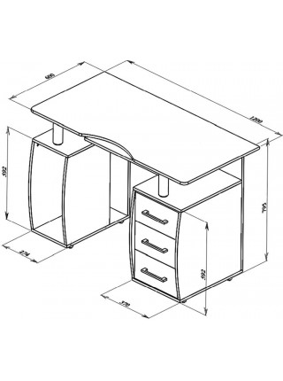 Компьютерный стол Дрофа КС-12М (Венге)