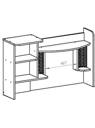 КН-7 Надстройка для стола (правая) Венге