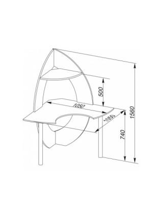 Угловой компьютерный стол - КСТ-101 Испанский орех