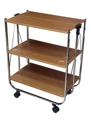 Столик сервировочный складной на колесиках 46-002 (Вишня)