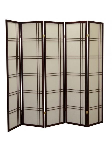 Ширма 359-5 (5 панелей) махагон