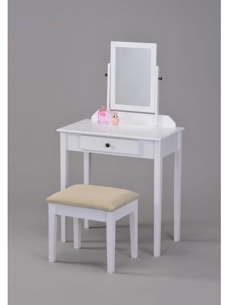 Туалетный столик с пуфиком VC-0002-WT
