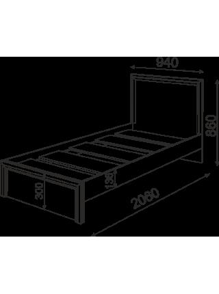 Кровать Ostin № 21 (с ящиками и без)