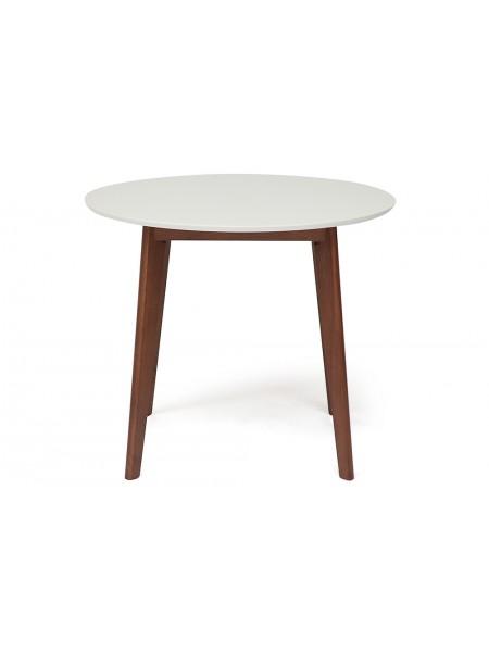 Стол Bosco (Боско) белый/коричневый D90х75 см