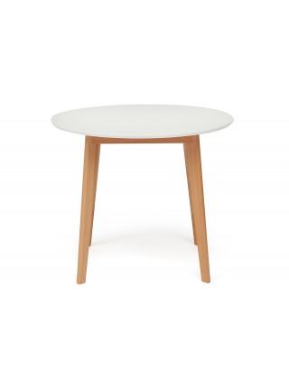 Стол Bosco (Боско) белый/бук D90х75 см
