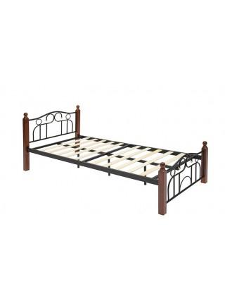 Металлическая кровать AT 808 (wb) + дерев. основание (90х200 см)