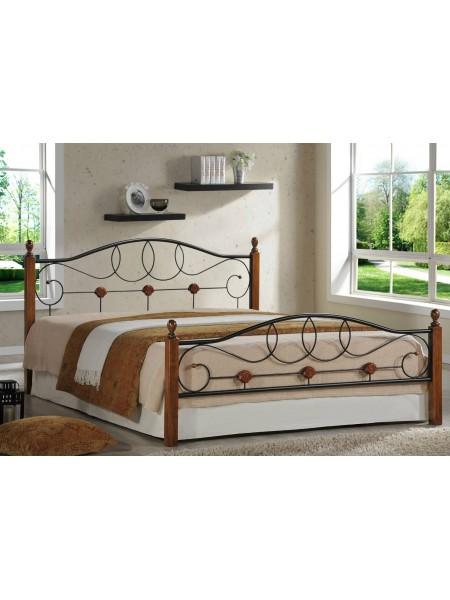 Кованая кровать АТ 822 + металл. основание (140/160/180)