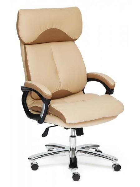 Кресло GRAND кож/зам/ткань, бежевый/бронзовый, 36-34/21