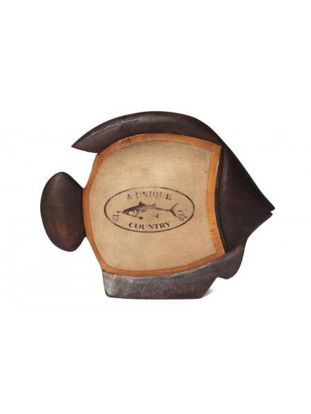 Декоративные рыбы Secret De Maison SNAPPER ( mod. HA-4082 ) дерево манго/холст, 20,3х25,4х6,4см, коричневый