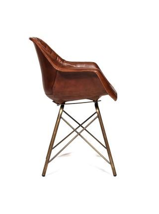 Кресло Secret De Maison EAMES BULL ( mod. M-17668) металл/кожа буйвола, 61х49х80см, античная медь/коричневый