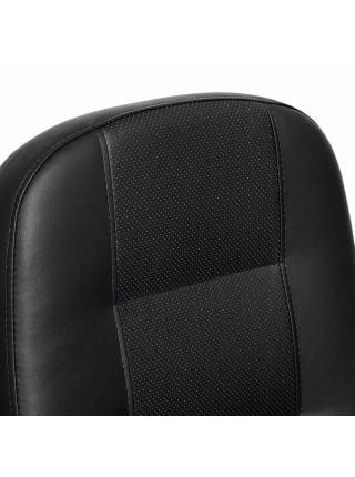 Кресло DEVON кож/зам, черный/черный перфорированный, 36-6/36-6/06