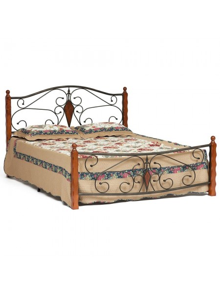 Кровать VIKING (mod. 9227) 160*200 см (Queen bed), Красный дуб