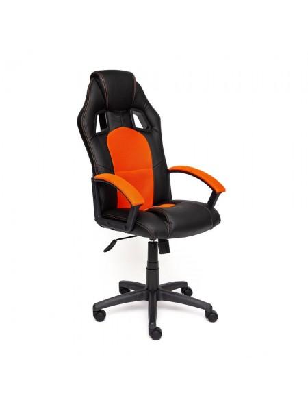 Кресло DRIVER кож/зам+ткань, черный/оранжевый, 36-6/07