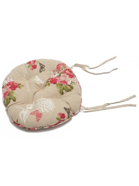 Summer Garden | Подушка на стул ( круглая ) хлопок, диаметр 40 см